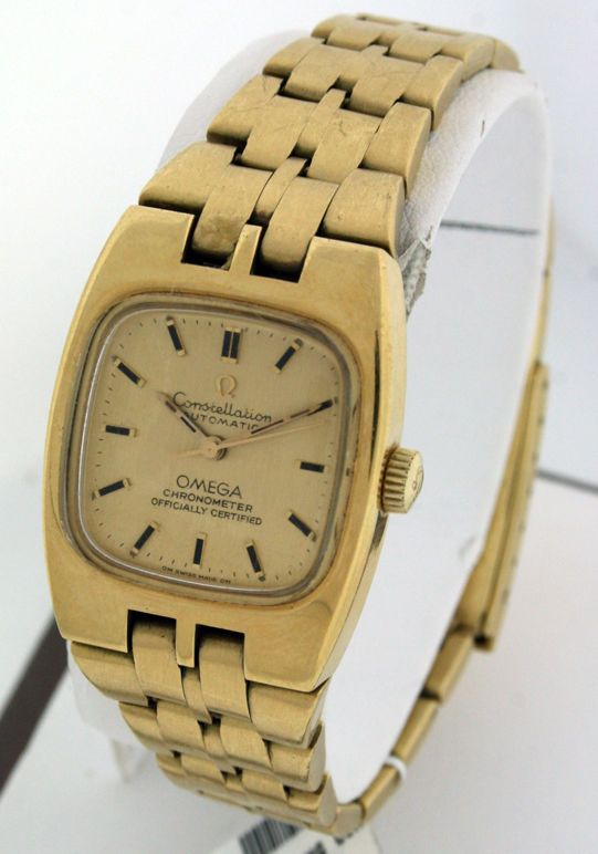8.275 USD Omega Constellation Vintage RARE 18k Yellow Gold ladies watch.