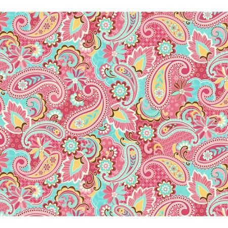 Quilter\'s Flannel Paisley Fabric, Pink/Blue   Paisley art   Pinterest