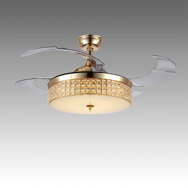 Modern Ceiling Fan Light Mute Fan Light Exquisite Decoration Light
