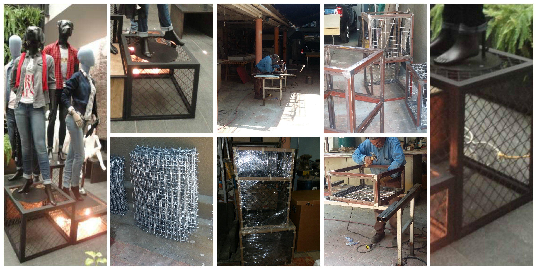 Cubos Met Licos De Diferentes Medidas Para Decorar Bases De  # Saverio Muebles