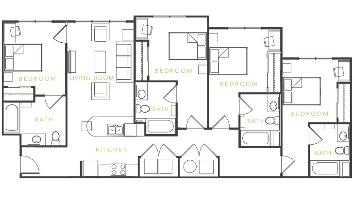 Merveilleux Floor Plans   Icon Plaza Student Apartments In Los Angeles, CA | Student  Housing | Pinterest | Student Apartment, Los Angeles And Angeles