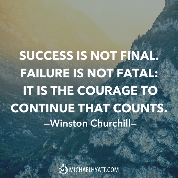 """Encouraging Success Quotes: """"Success Is Not Final. Failure Is Not Fatal: It Is The"""