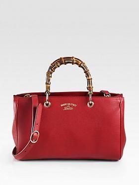 #Gucci #Bamboo #Shopper #Leather #Tote