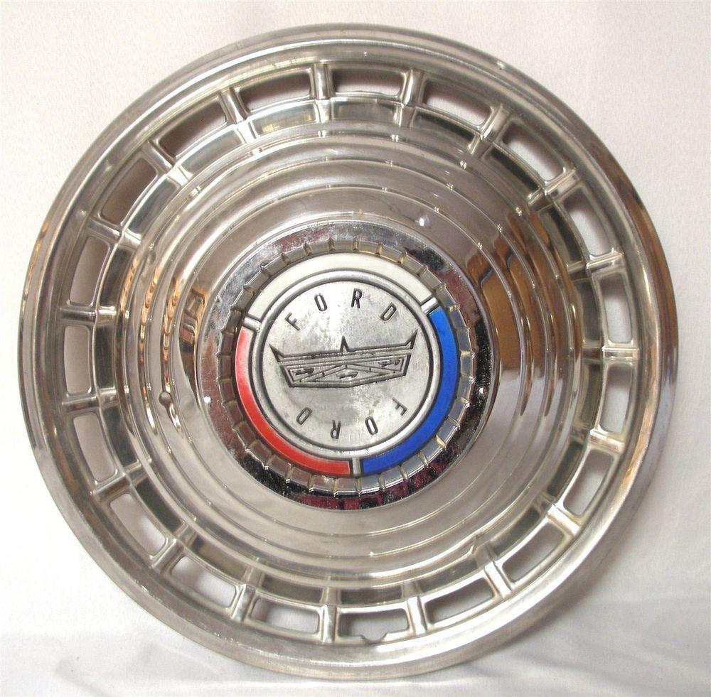 Vintage original oem 1963 ford crown logo auto car spin wheel ...