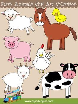 Farm Animals Clip Art Farm Animals Preschool Animal Clipart Farm Animals
