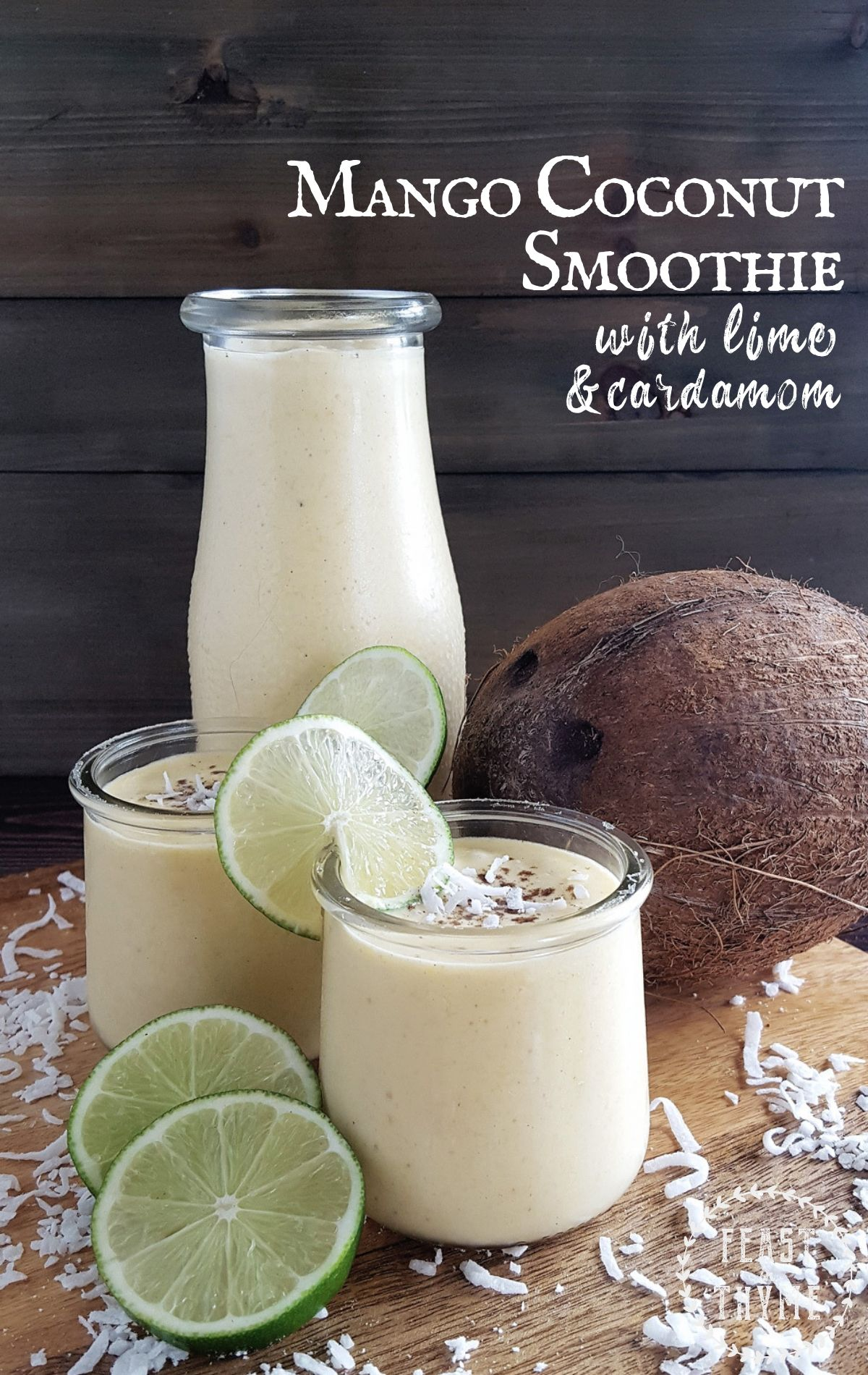 Mango Coconut Smoothie with Lime & Cardamom images