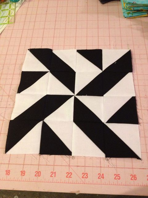 Block 27 By Knitnlit Via Flickr Half Square Triangle
