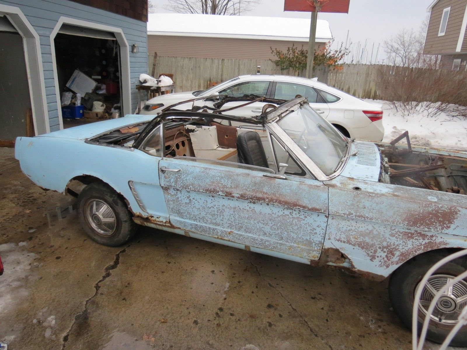 Ebay 1965 ford mustang rust bucket project 1964 1 2 ford mustang convertible project car original 260 v 8 auto ps carparts carrepair