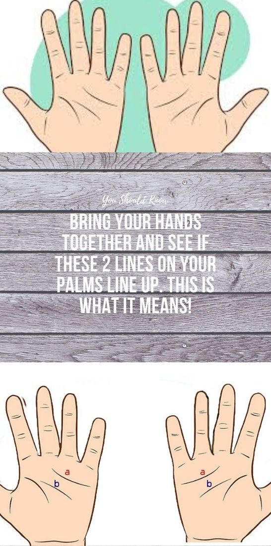 Photo of BRING YOUR HANDS TOGETHER AND SEE IF THESE 2 LINES ON YOUR PALMS LINE UP. THIS IS WHAT IT MEANS!