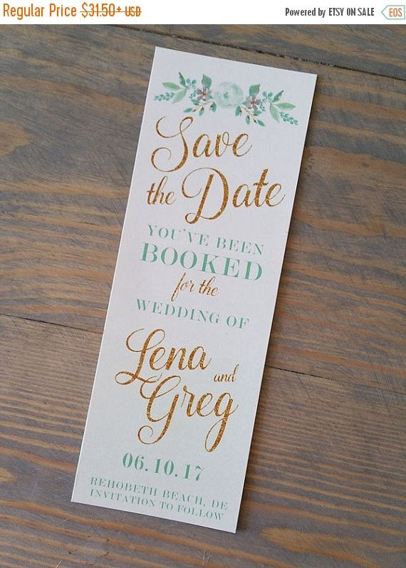 mint bookmark save the date save the date bookmark mint and faux