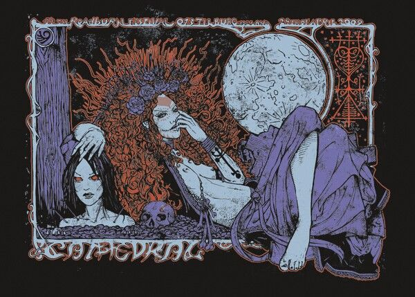 CATHEDRAL Live at Roadburn cm. 50 x 70 - 4 colours on heavy black paper 194 ltd editions