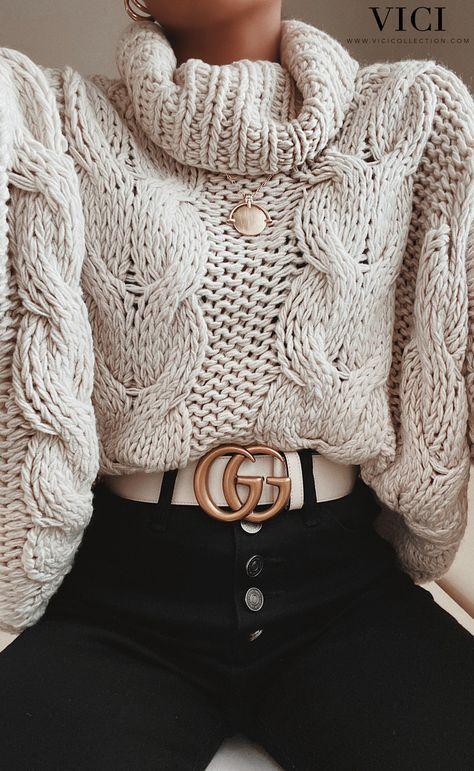 Comment porter le pull col montant avec style?   – clothes
