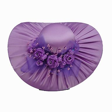 Fashion Satin With Satin Flowers Wedding/ Partying/ Honeymoon Hat More Colors Available – USD $ 11.99