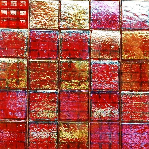 Red Carpet CG1931 iridescent glass mosaic tiles