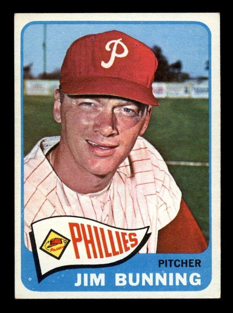 1965 Topps Baseball 20 Jim Bunning Phillies Exmt Baseball Card Values Baseball Cards Philadelphia Phillies Baseball