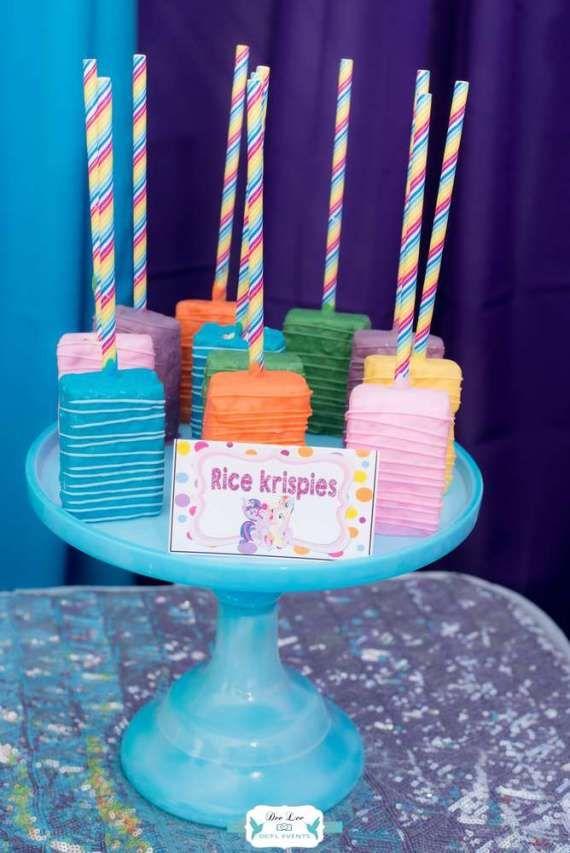 rainbow dash adventure birthday rice krispies maya turns 5