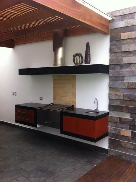 Acero, madera, granito negro aracruz Bbqs \ more  Valqui Deco