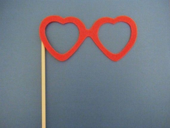 "Photo Props- Glasses ""The Sweetheart"""