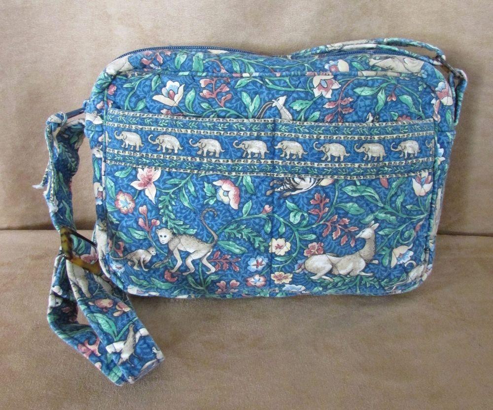 65fc88f61fbd Vera Bradley purse Animal Kingdom crossbody messenger bag monkey elephant  blue  VeraBradley  MessengerCrossBody