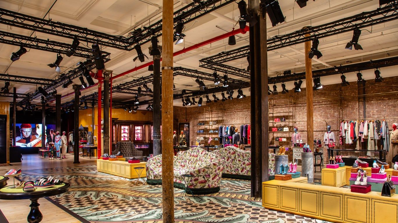 af221fad0b2 Gucci s new store in Soho is designed to entice shoppers to linger.
