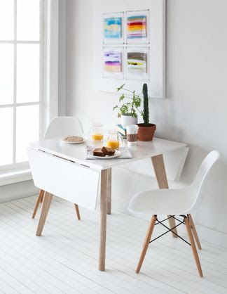 For A Small Corner Space Saving White Dropleaf Table Extendable