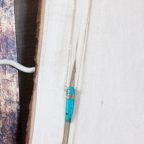 Singola collana in turchese / Gemstone collana / di EwelinaPas