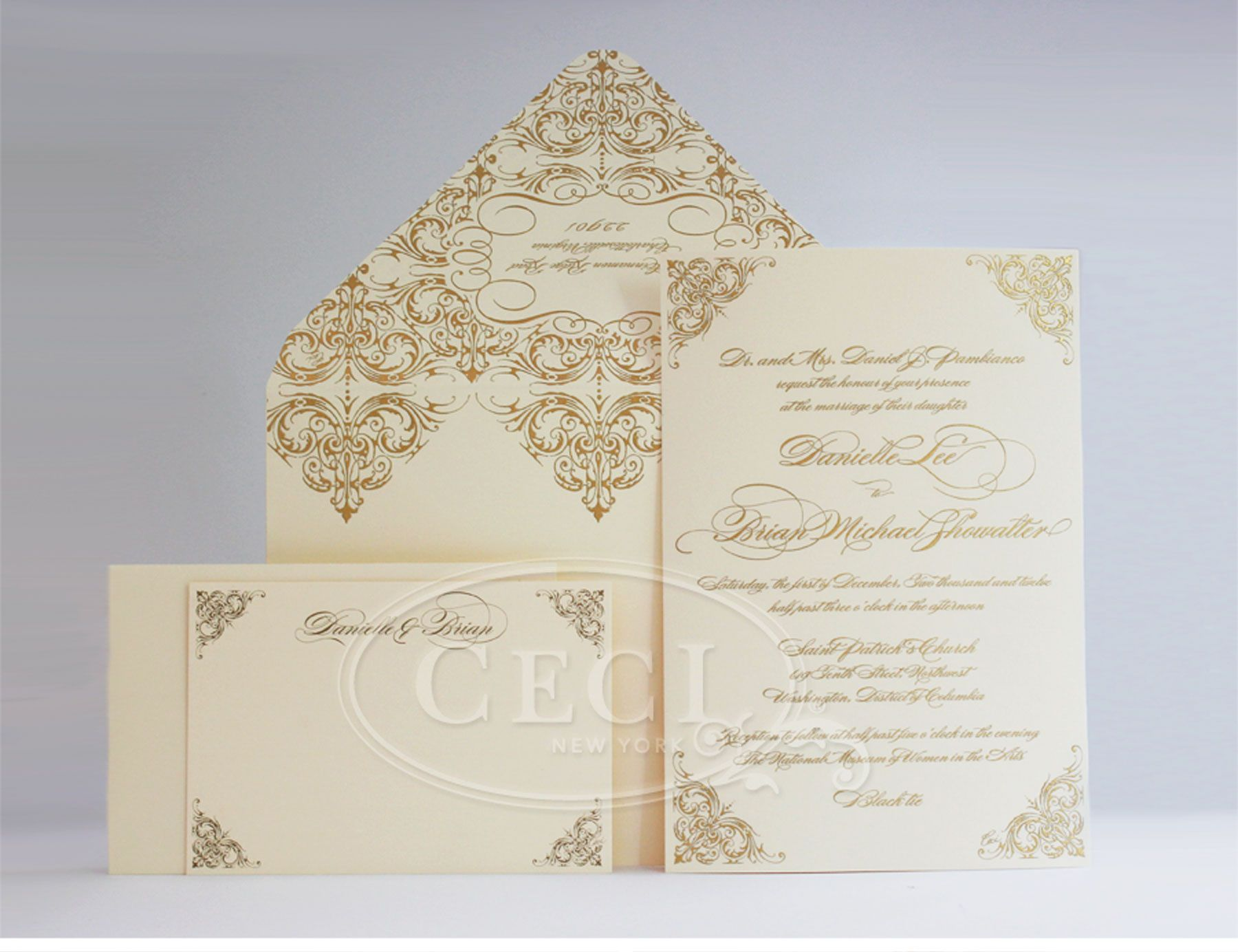 tie ribbon wedding invitation%0A Luxury Wedding Invitations by Ceci New York  Our Muse  Elegant Masquerade  Wedding  Be