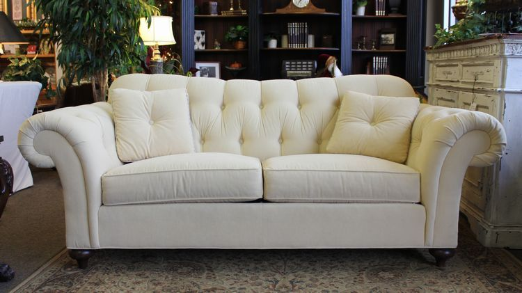 Ethan Allen buttery cream colored tufted sofa with 2  : d0984d5bf83589237fd51f4ea0323d19 from www.pinterest.com size 750 x 421 jpeg 54kB