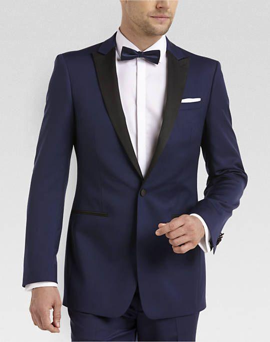 Calvin Klein Blue & Black Extreme Slim Fit Tuxedo - Extreme Slim Fit ...
