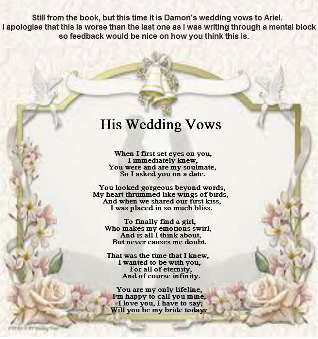 His Wedding Vows - Poems By Teen Poets