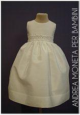 37479063b7 Vestido de Shantung y Tiras Bordadas para Bebé o Niña 112. Elaboración  Artesanal. Diseños Exclusivos. Christening and Party Dress for Baby Marca  ...