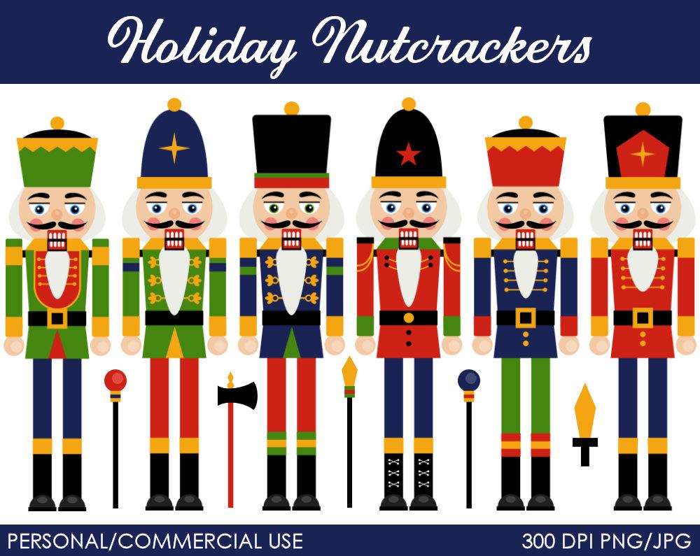 holiday nutcrackers clipart digital clip art by mareetruelove rh pinterest com Nutcracker Suite Clip Art Clara Nutcracker Clip Art