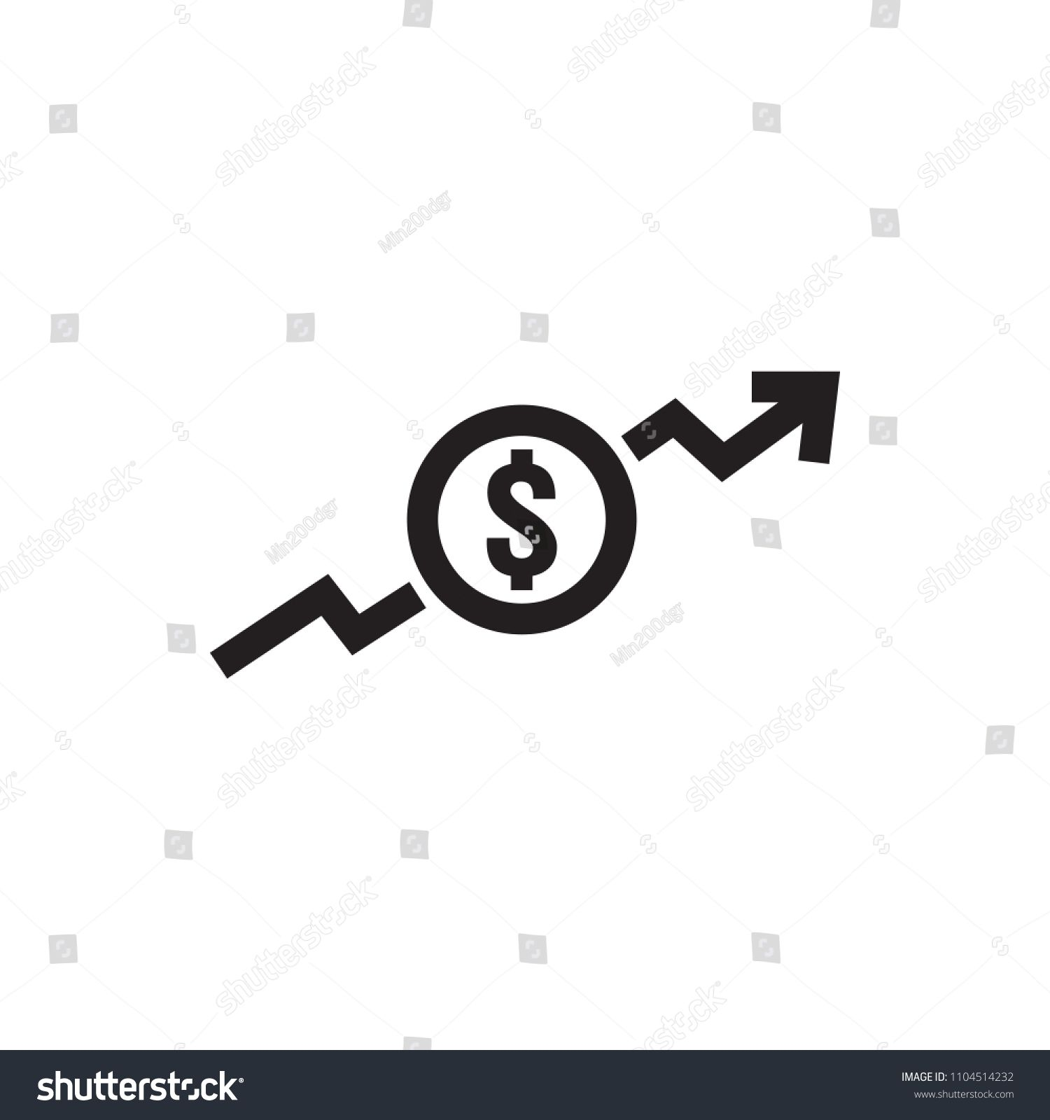 Dollar Rate Increase Icon Money Symbol With Stretching Arrow Up Rising Prices Business Cost Sale Icon Cash Salary Dollar Rate Symbols Graphic Design Trends