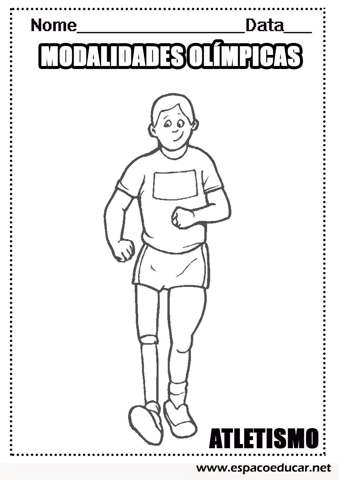 Desenhos Das Modalidades Esportivas Das Olimpiadas Para Colorir