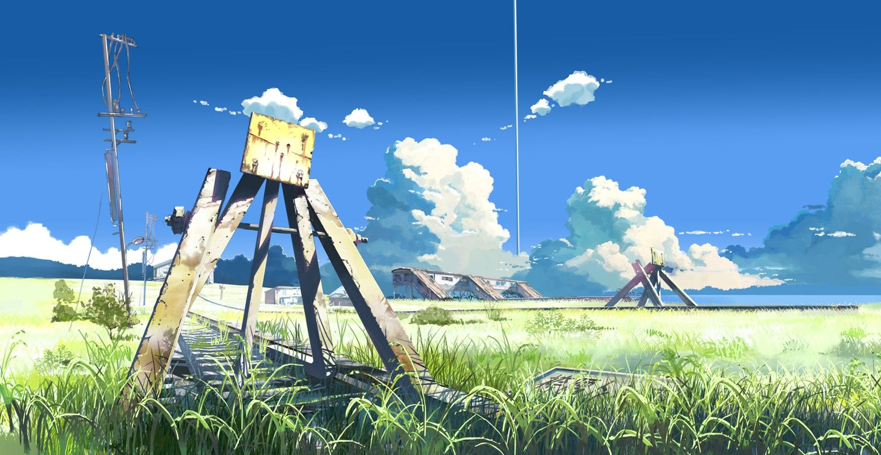 The Place Promised In Our Early Days By Makoto Shinkai Anime Scenery Anime Scenery Wallpaper Anime Background