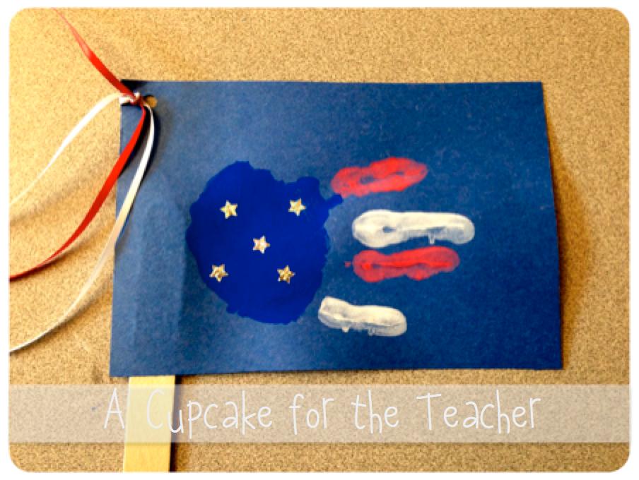 Happy Memorial Day! Handprint Flags ) Happy memorial