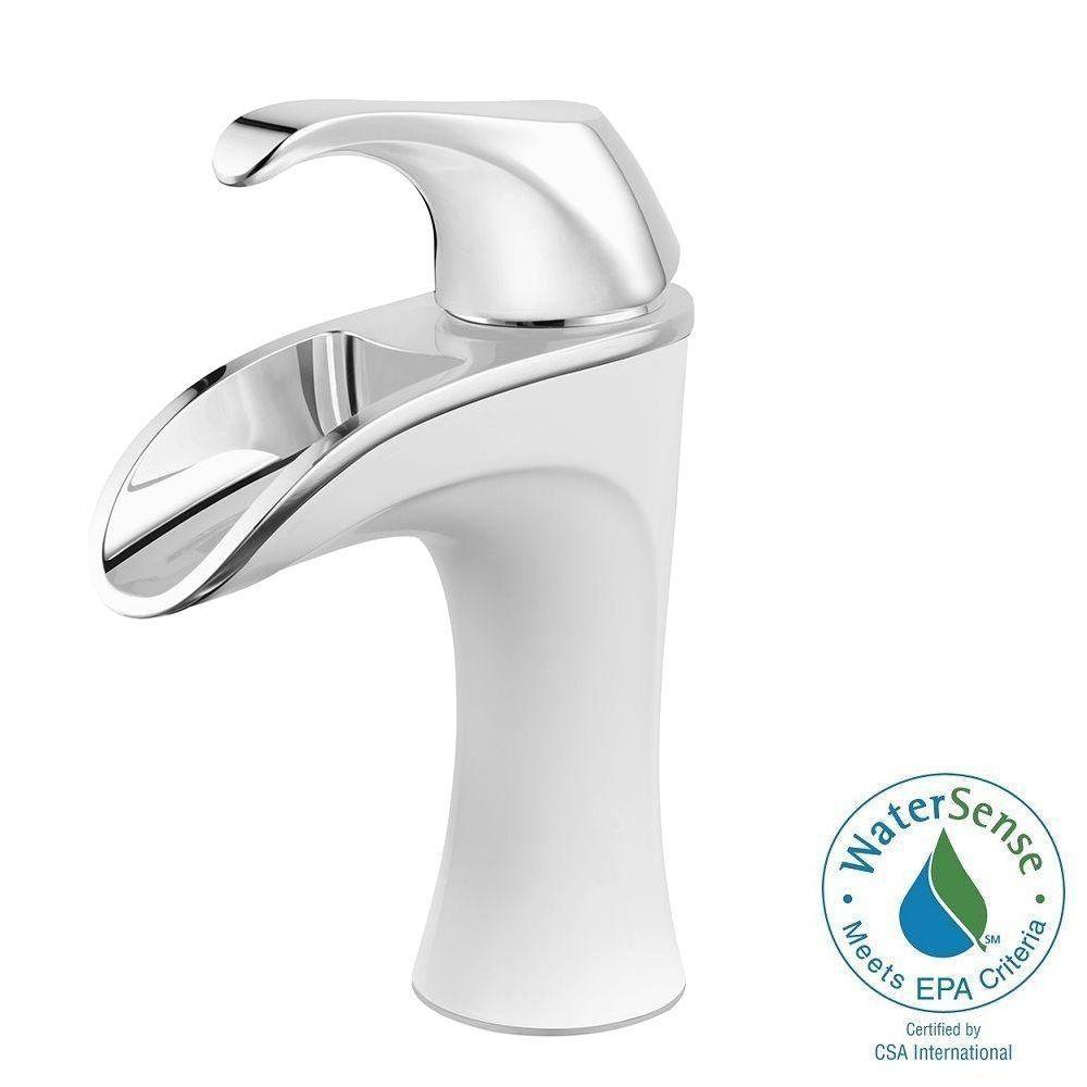 Pfister Brea 4 in. Centerset Single-Handle Bathroom Faucet in Chrome ...