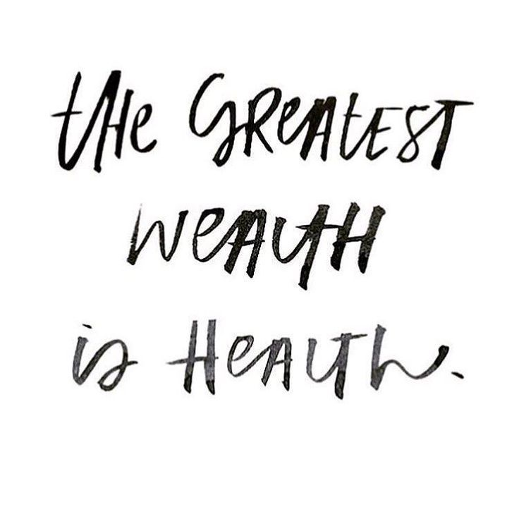 Inspirational Health Quotes: The Greatest Wealth Is Health // Inspirational