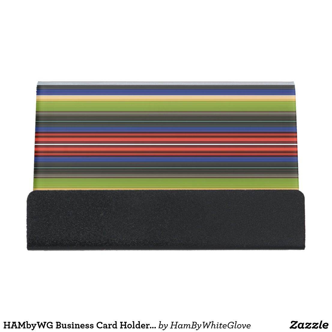 HAMbyWG Business Card Holder Red White Blue Green | Business card ...