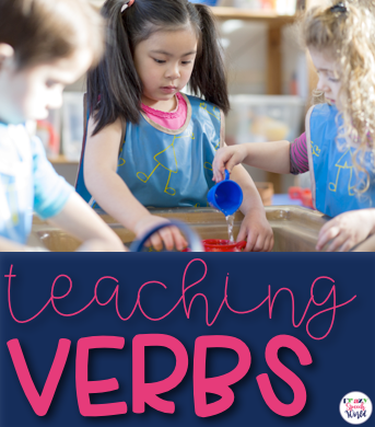 Teaching verbs throughout the year using seasonal vocabulary.   This system covers everything from comprehension to expanding utterances to verb tense!