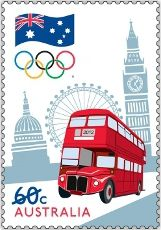 """The first of our Olympic stamp releases for #London2012... this one is called """"Road to London"""" http://auspo.st/OIxrh0 #stamps"""