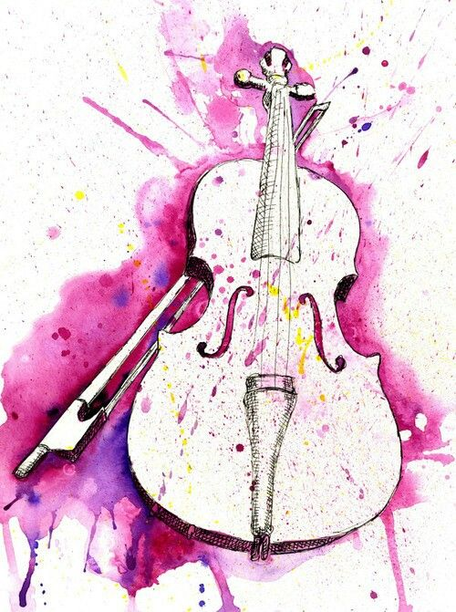 Items Similar To Watercolor Violin On Etsy