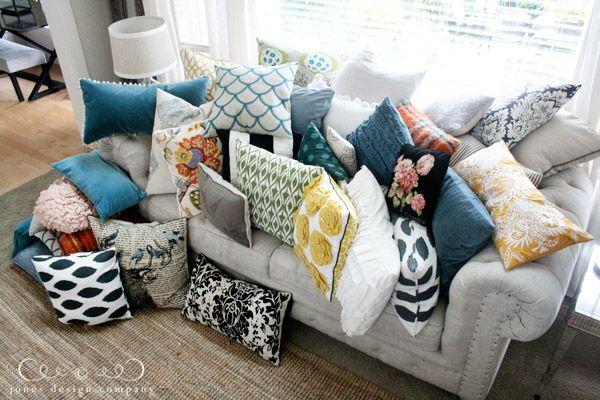 pillow talk | Jones Design Company | Pillows, Cushions on sofa, How to make  pillows