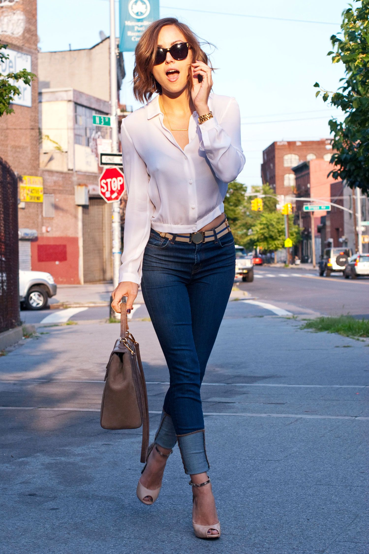 Kelly Framel, blogger from The Glamourai, wearing our J Brand ...