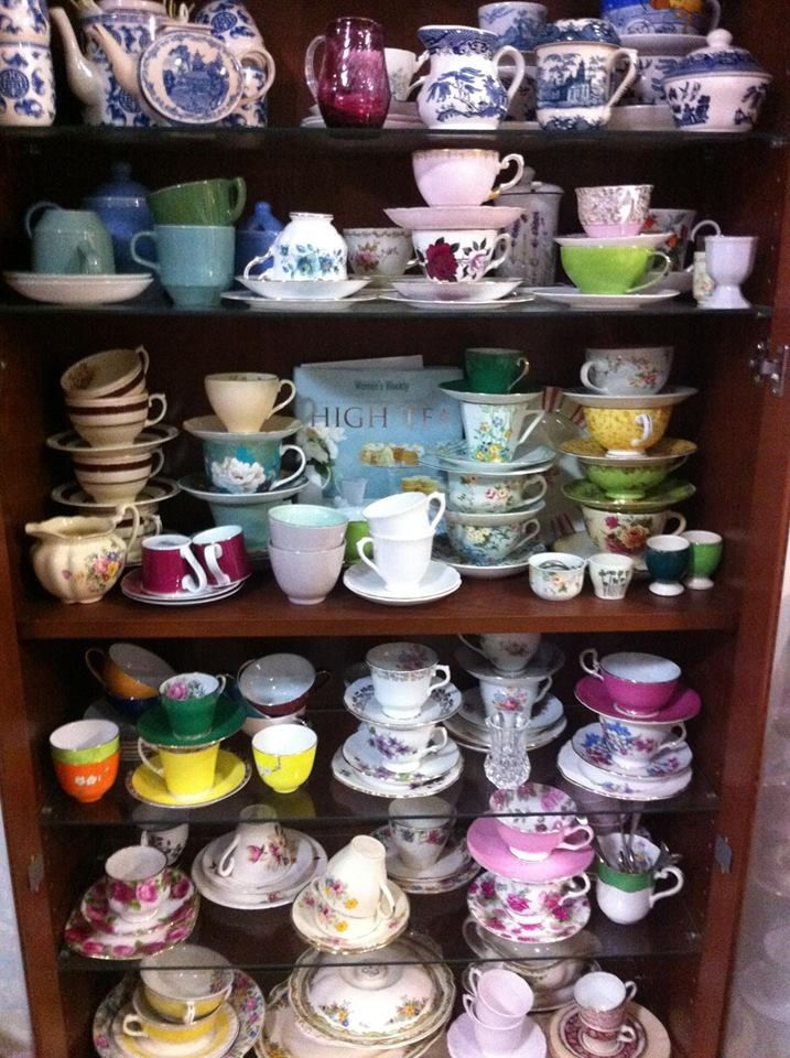 Eclectic tea cup collection