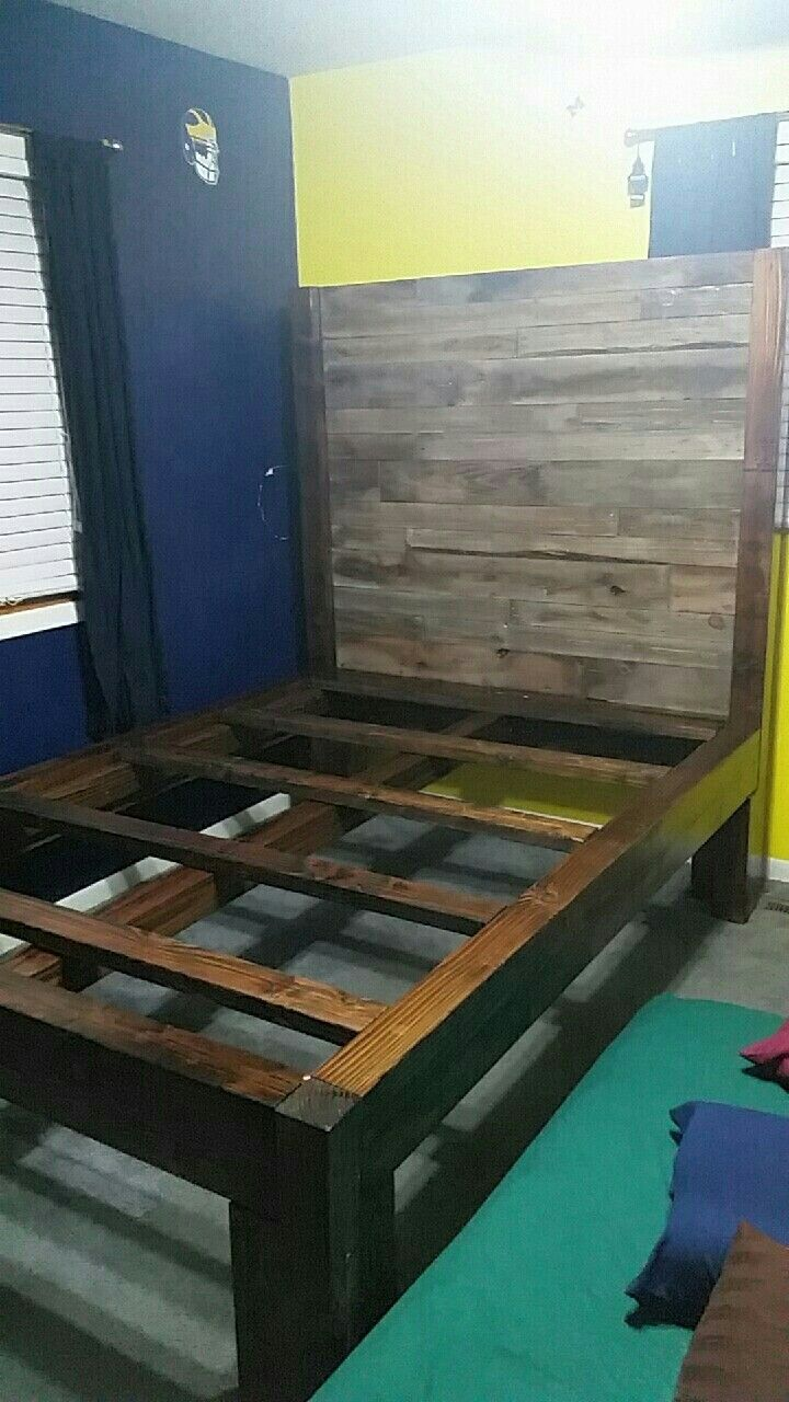 Douglas Fir Pallet Bed 60 X 80 To Fit A Queen The Backboard It