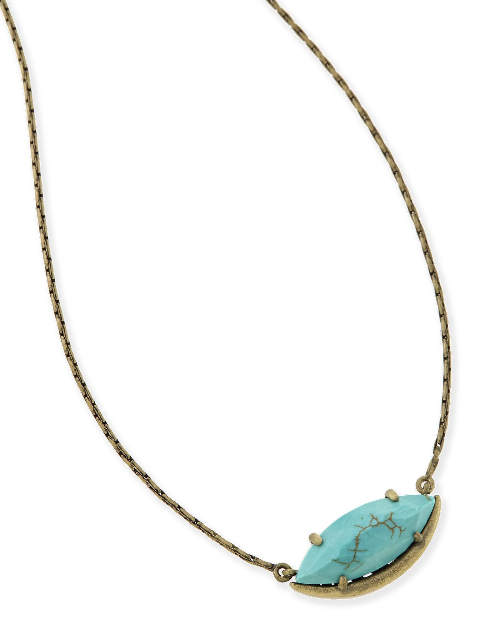 Meghan pendant necklace in variegated turquoise love this