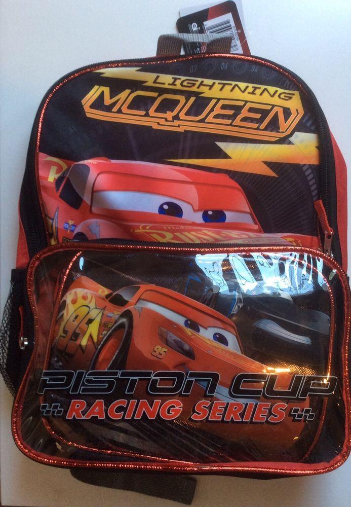 8f9bdceb02a NWT  Lightning  McQueen  Piston  Cup Racing Series Backpack  Disney  Pixar  Cars  AlexanderMcQueen