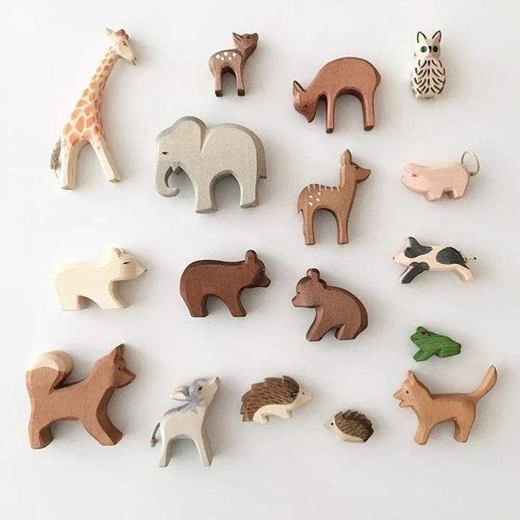 """rOw^10 on Instagram: """"Hand painted, organic, wooden animals are perfect for play, decoration, and cake topping! ?? Get them at Row 10 // free shipping // ?:…"""""""