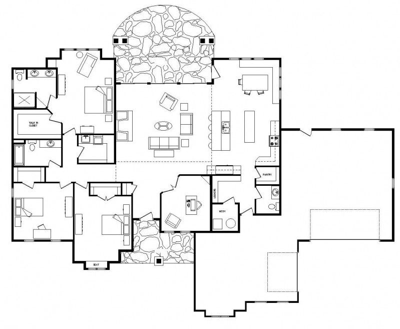 guide and practice january 2015 4 bedroom one story open house - Open House Plans